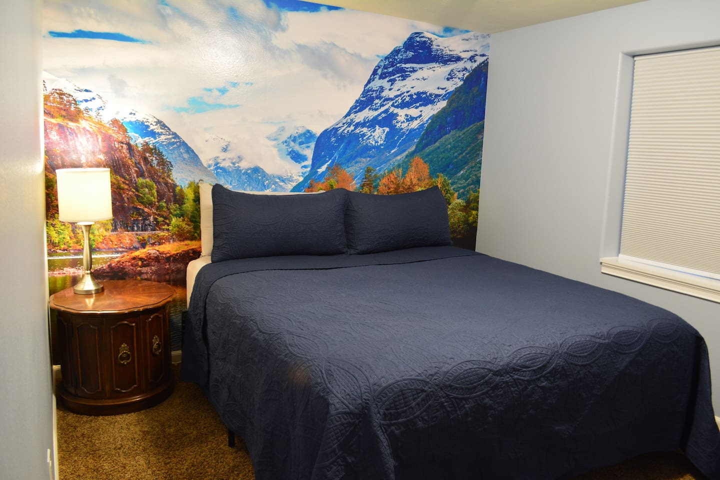 Your private bedroom with a comfy California king bed