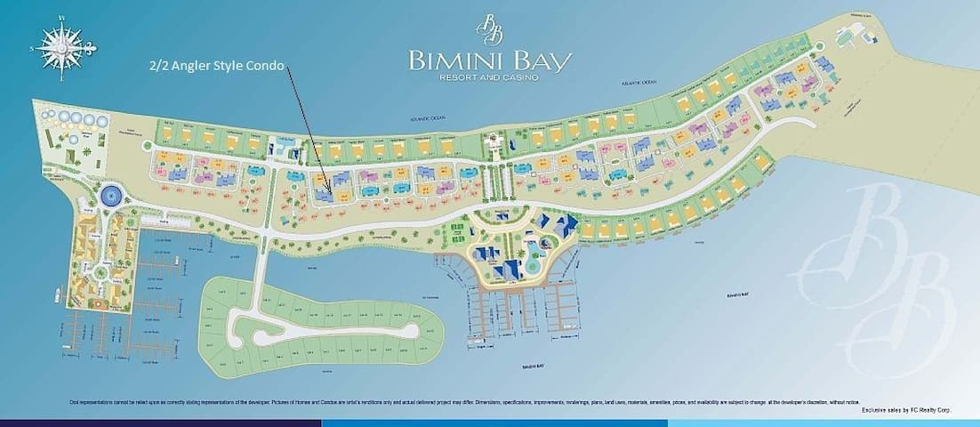 RESORTS WORLD BIMINI - 2/2 CONDO - 40' BOAT SLIP!
