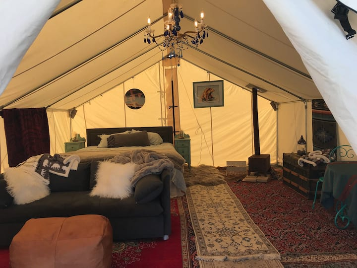 Rustic Luxury Glamping Cabin NEW SALE 290 FROM 350