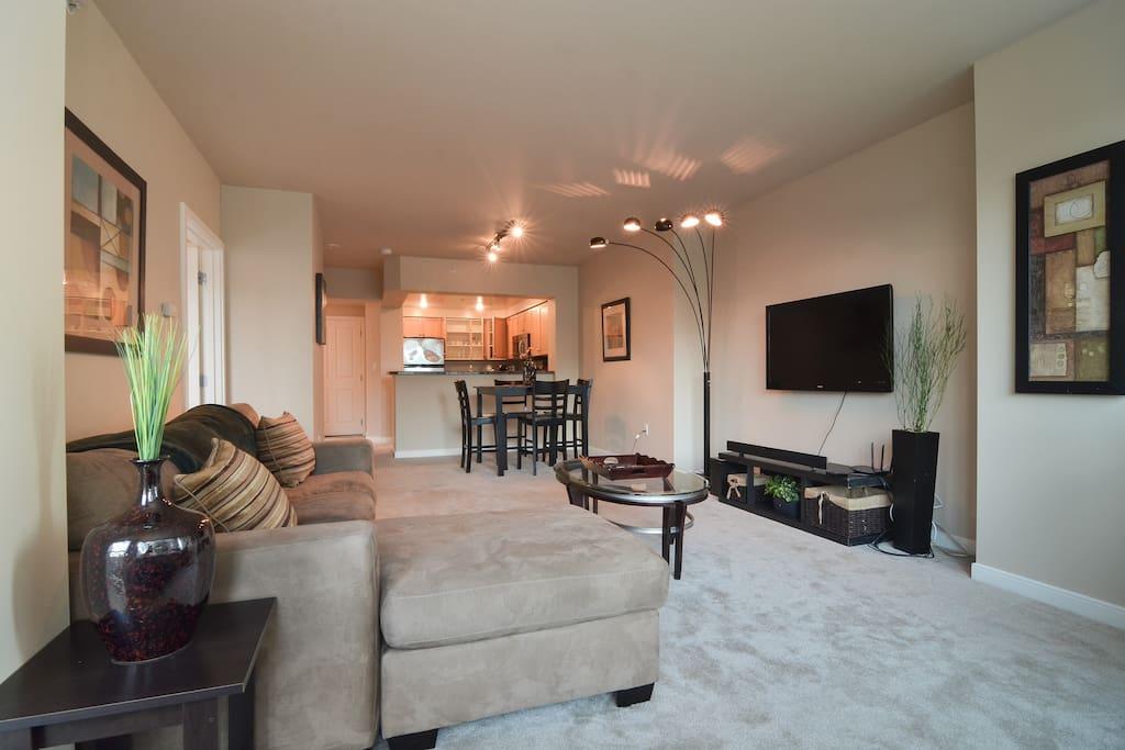 "Living room ~ 50"" TV w/ Apple TV"