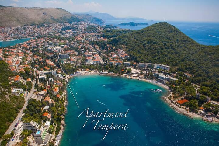 Apt. Tempera, great spot, near beach, free parking