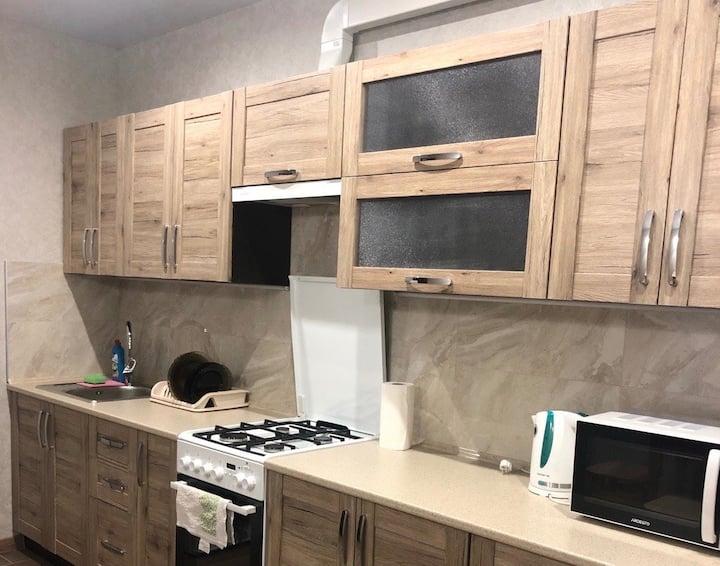 Новая  уютная квартира на 4 человека в новострое