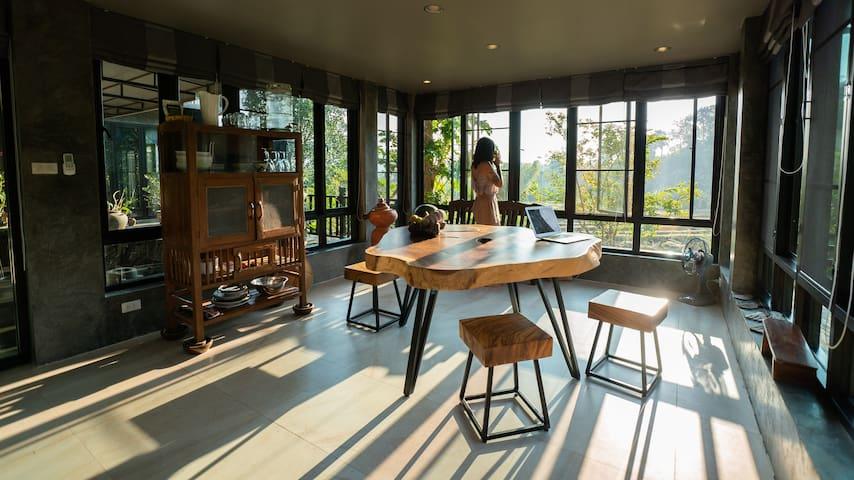 Full Western Kitchen, YOGA Room, Organic Fields