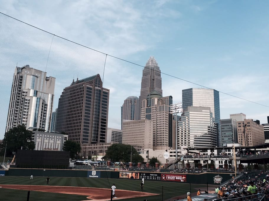 Charlotte 30 minutes away. View from Baseball field