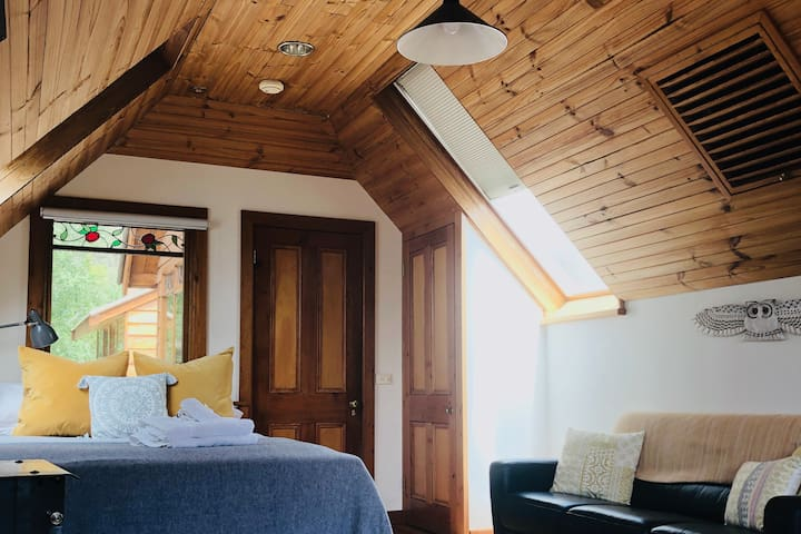 Cosy loft with roof windows for stargazing