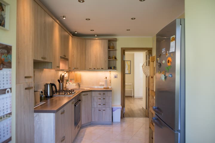 A large fully equipped modern kitchen is available for the convenience of our guests. It has a gas cooker and electric oven as well as a large fridge/freezer. Whether you're a master chef or a complete novice in the kitchen you won't be disappointed.