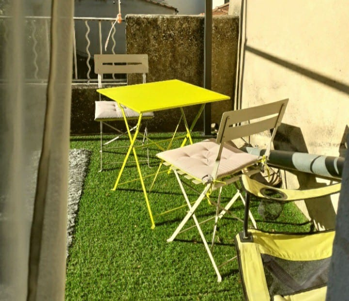 Chambre 20 m2 , 2 lits 1 pers, terrasse privée 9m2