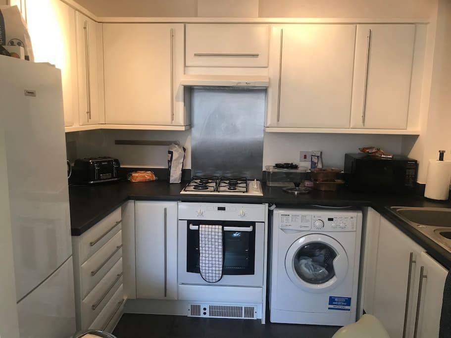 Washing machine kettle toaster microwave