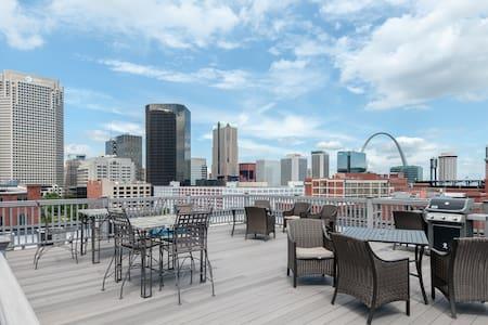 Beautiful 1BR Loft: Convenient, Cozy, and Scenic! - St. Louis - Loft