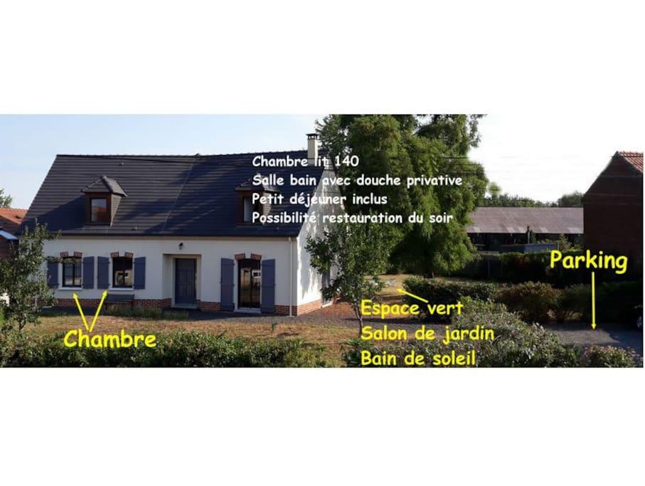 Voici la maison dans laquelle vous serez hébergés