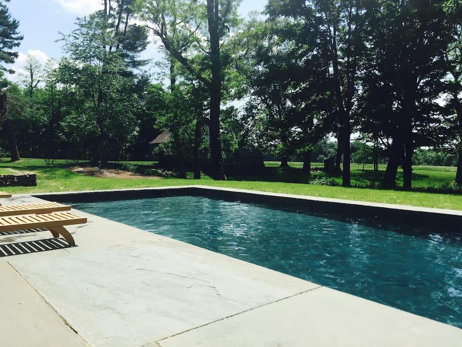 Heated, gunite pool
