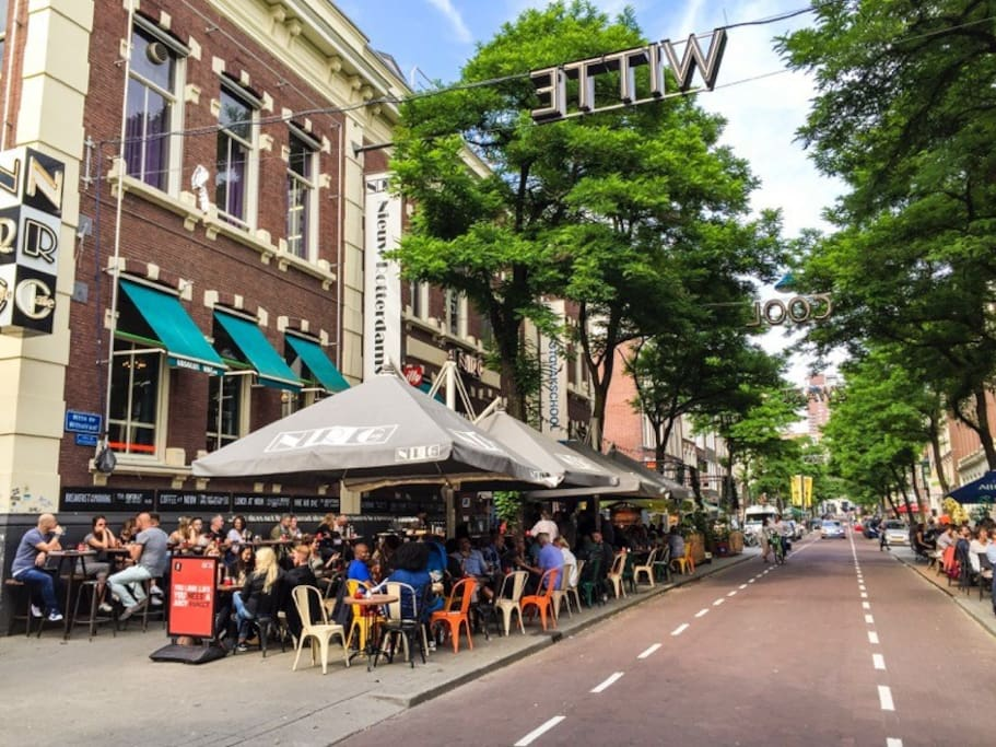 The NRC is the second best known restaurant across the street you have a bar called WITTE AAP (which means white monkey) they got the title best bar in Europe!