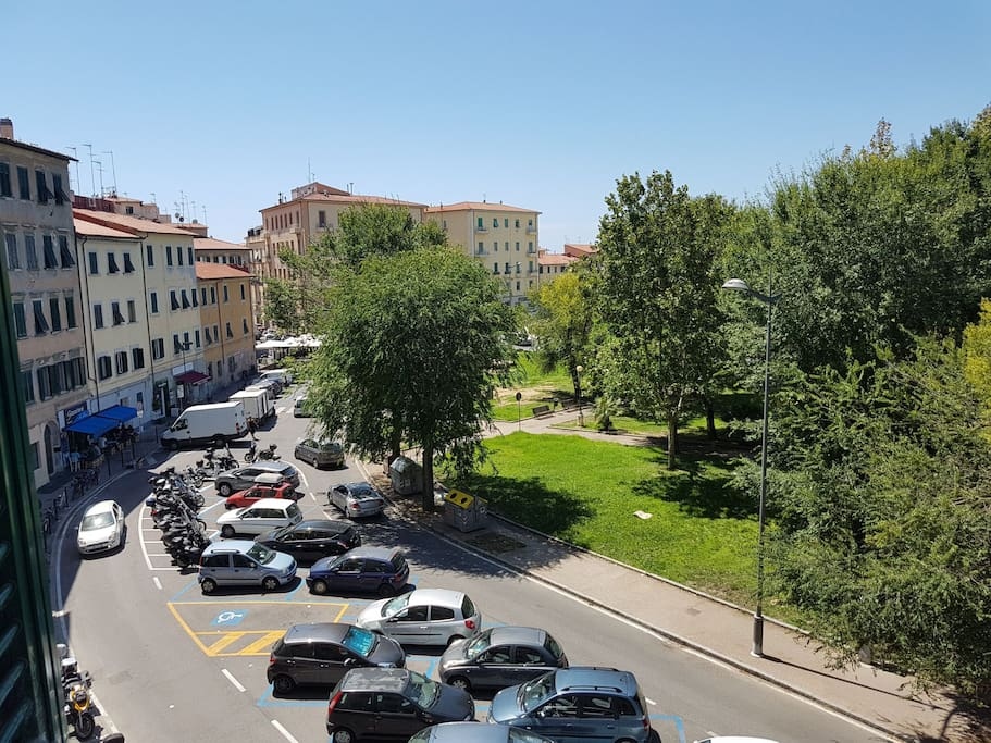 Vista della Piazza Mazzini dalla sala
