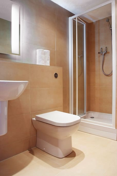 Beck Lodge Shower Room has underfloor heating and a heated radiator
