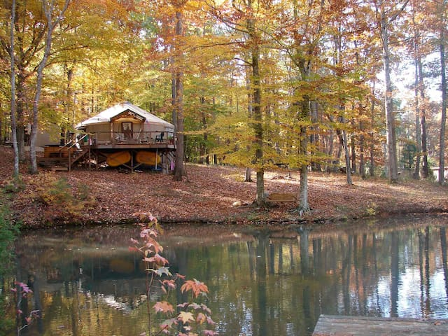 The Yurt at Frog Pond Farm - Saxapahaw
