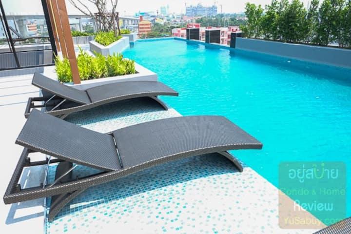 Modern Tropical Garden1b.-Near Bts Erawan-Skypool