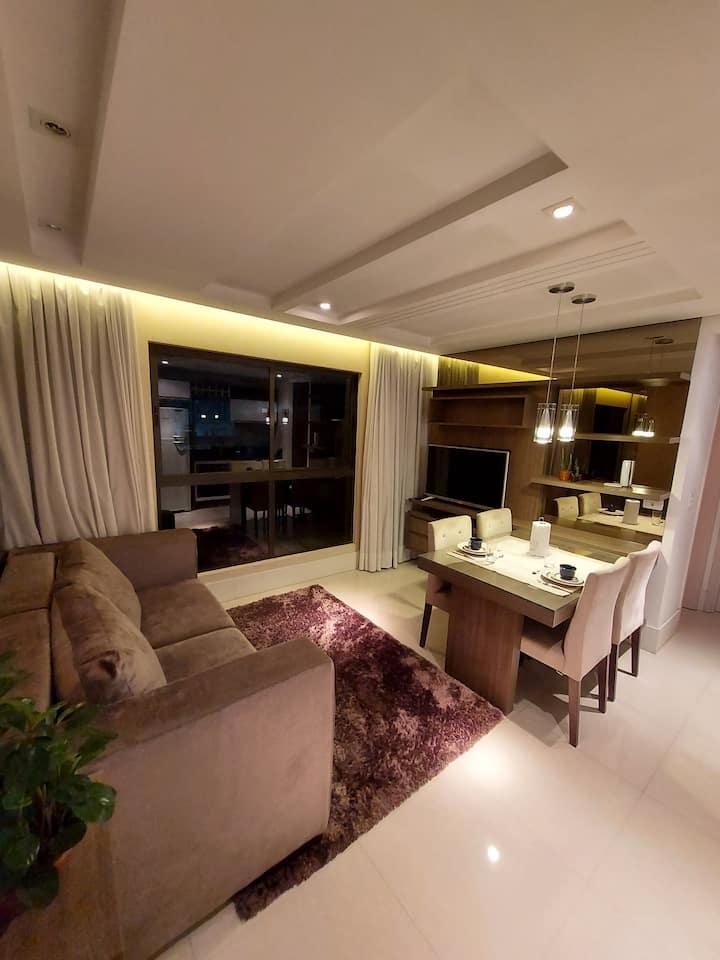 Apartamento decorado e aconchegante