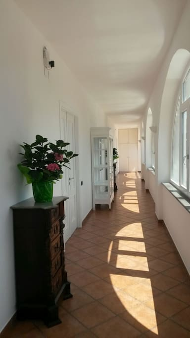il corridoio che da alle camere