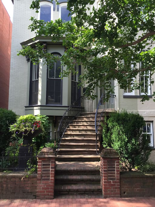 This apartment is in the second and third floors of a gracious old house and is just 1/2 block off the bustle of 14th St, a primary hub of new restaurants in DC