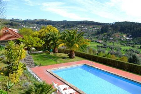 A villa with stunning views at Ponte de Lima