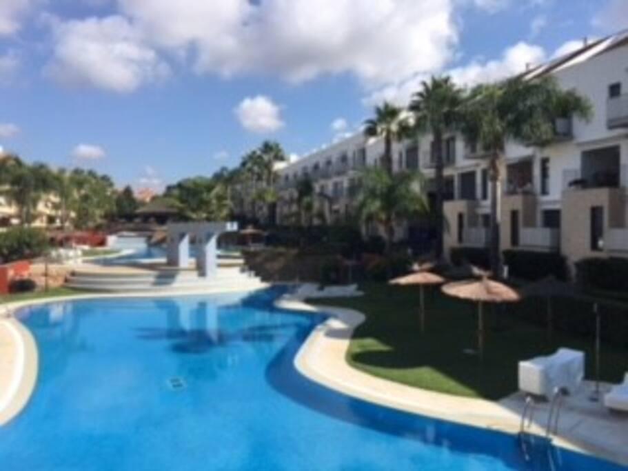 Apartamento familiar en islantilla vft hu 00830 aptos en complejo residencial en alquiler en - Apartamento en islantilla playa ...