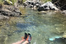 Big Rock Creek is just a 5 minute drive west of the ranch, and a great place to cool your toes on a hot day.
