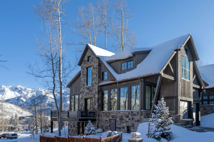 This Ski-in Ski-out Mountain Village Home is a Luxuriously Well-Appointed Retreat with a Private Hot Tub