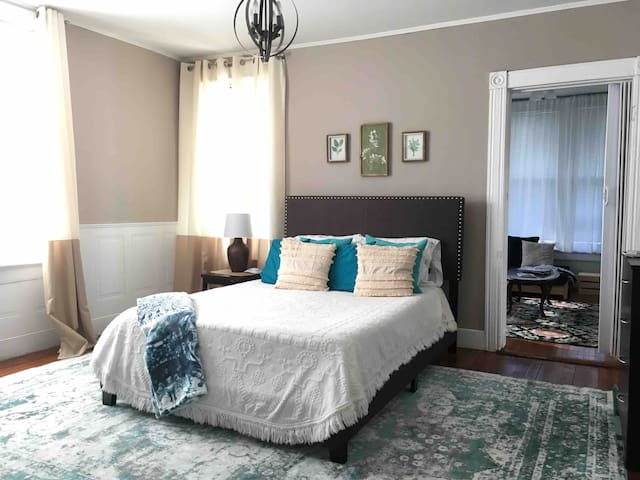 Giant 1st floor apt in Victorian home downtown
