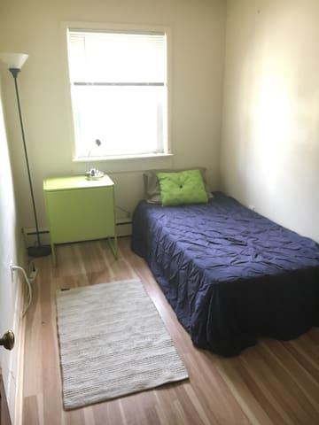 Private bedroom in spacious Ann Arbor apartment.