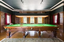 ...with full size snooker table...