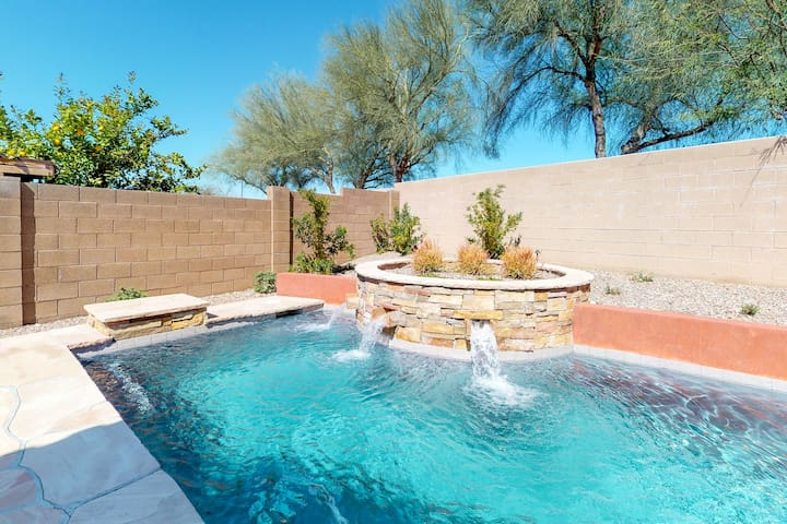 Great location in Peoria! Home in gated community w/ private pool - near sports!
