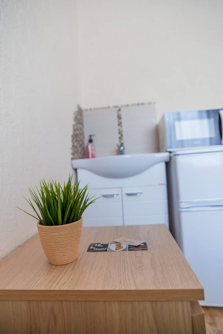 Комфортная комната для 1 или 2 человек на месяц