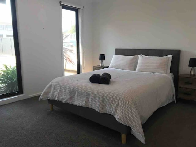 Bedroom 1 with ensuite and walk in robe