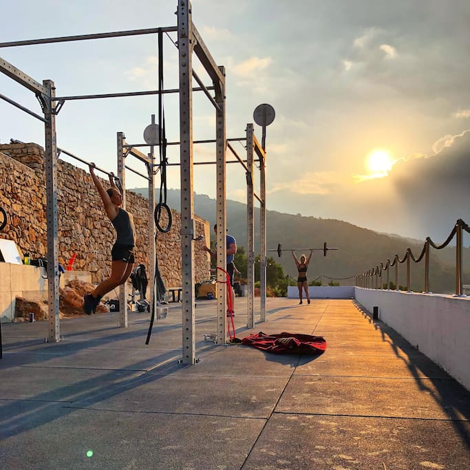 Our brand new gym and yoga area finished in May 2018. Amazing sea view with highest quality equipment.