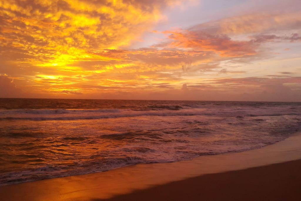 Sunset at Kosgoda Beach.