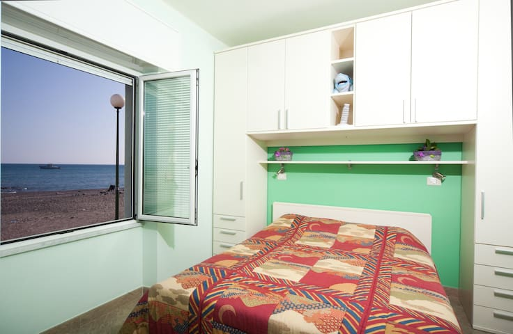 Right on the beach - apartment with sea view.