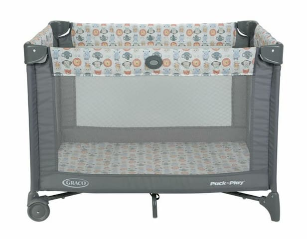 Playpen, stroller and high chair