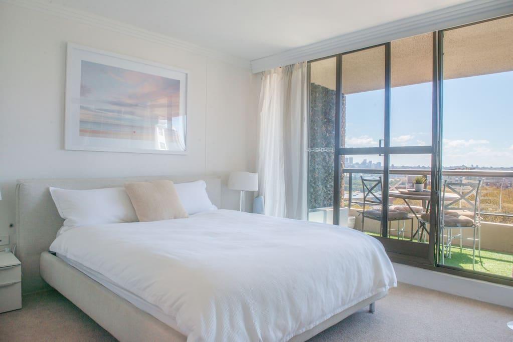 Sunny north-facing bedroom