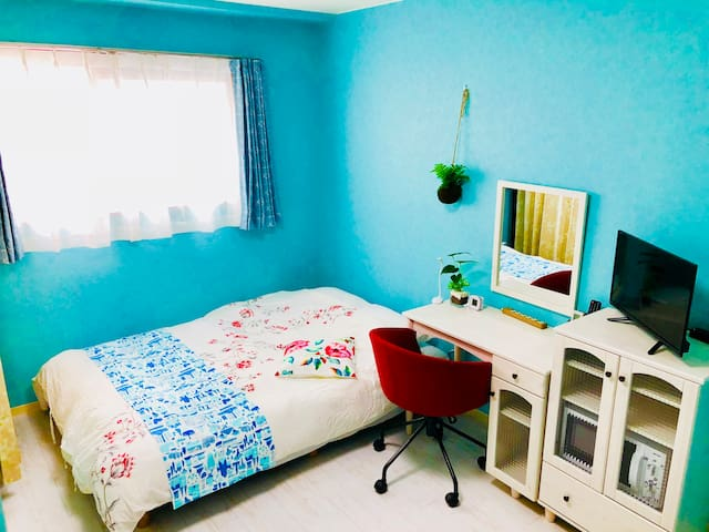 【Wifi Free】Shinsaibashi Cozy Room 3 min  station