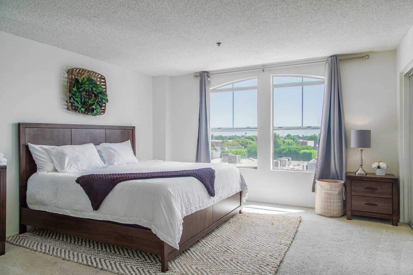 Master bedroom with a great view.