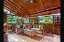 Enjoy breakfast with a jungle view