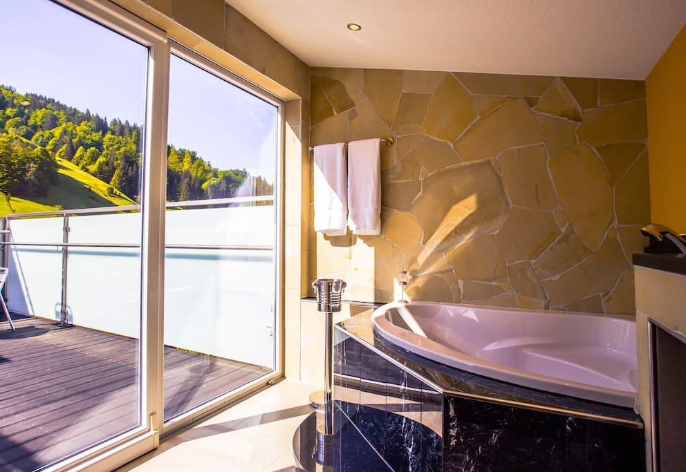 Apartment BONAIRE (67 m²) – für 2 - 4 Personen Poolbar mit Ausblick zum Hasenhorn