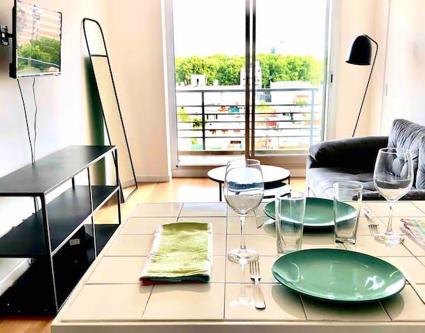 Duplex en villa Crespo sobre metro bus piso 7 y 8