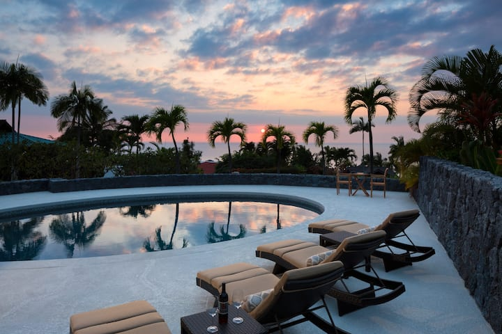 Gated residence with ocean views and pool!