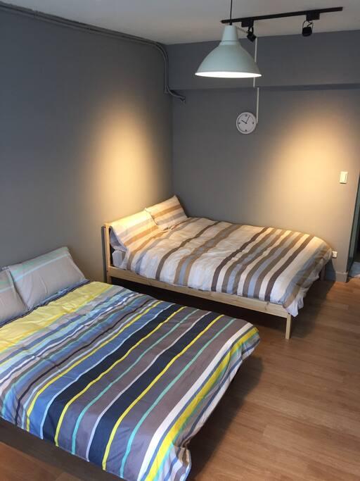 標準雙人床+雙人沙發床