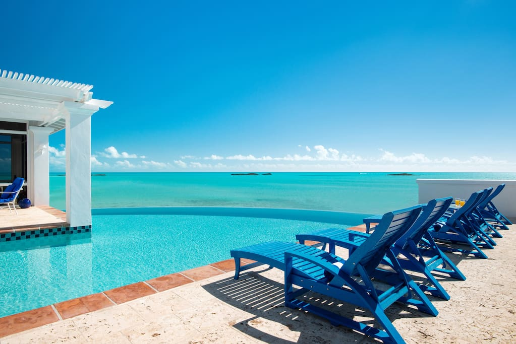 Relax on the pool deck