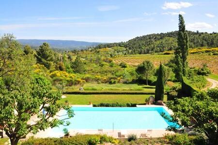 Mas Provençal au milieu des vignes et une vue exce - Mormoiron