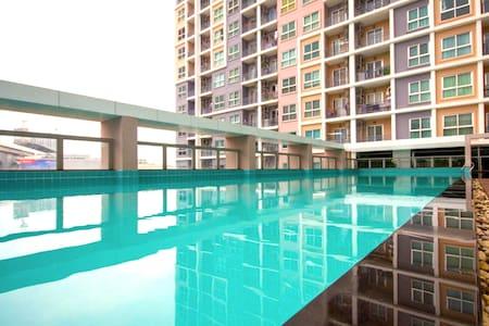 Fully furnish room 30SQM + WIFI&WASHER, 7th floor! - Bangkok