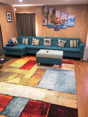 Lounge with beautiful colours