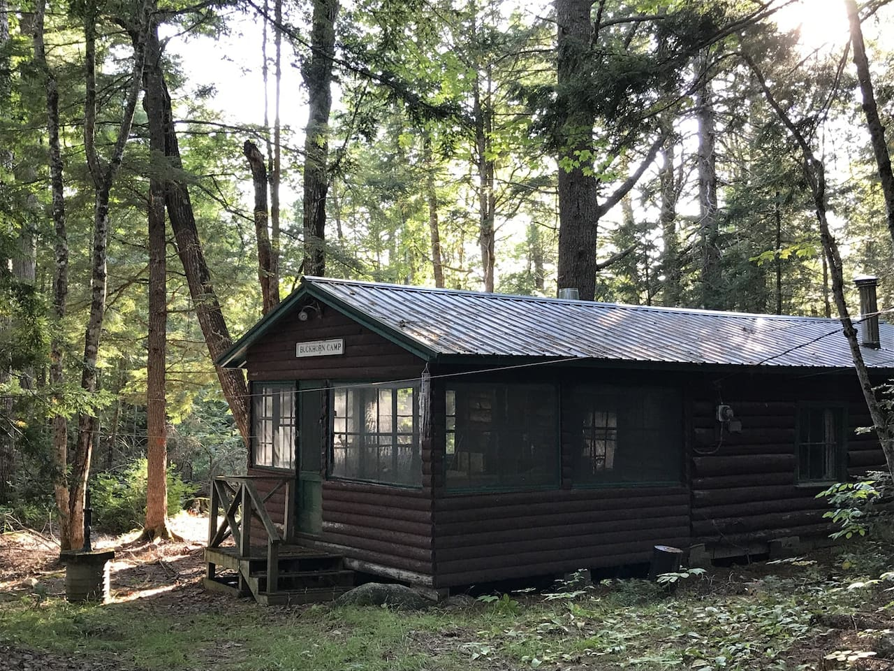 Penobscot Log Cabin in the Woods